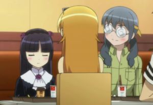 Kuroneko and Bajeena Ignore the brat in the middle