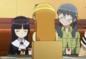 Kuroneko and Bajeena Ignore the brat in the middle