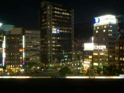 Downtown Kobe on a crisp Autumn night