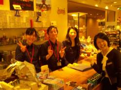 Nishio Tomoko and shop staff