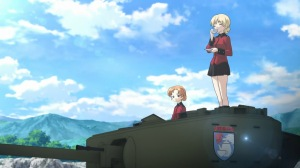 Tank commander Darjeeling prepares for battle