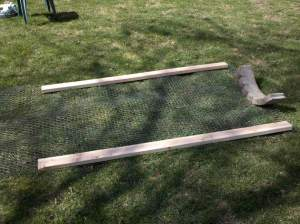 Boards and chickenwire