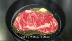 Butterfried steak