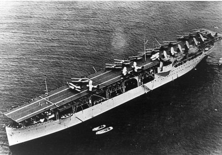 The world's first aircraft carrier