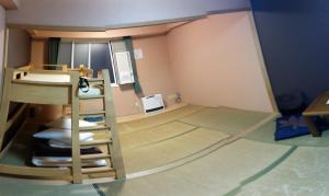 My room. Hugin Panorama Creator had a hard time with my camerawork