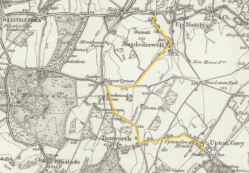 Ordnance Survey map of 1893 shows no railroad