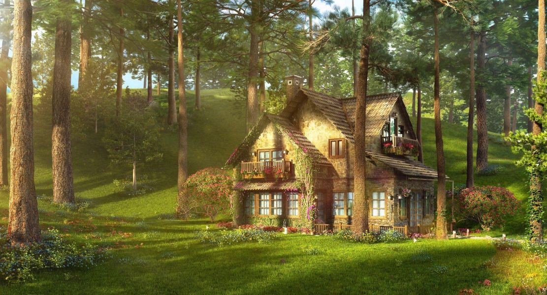A House In The Forest. https://wallpapercave.com/w/wp4443731
